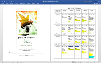 Lord of the Flies Literature Circle Resource Guide