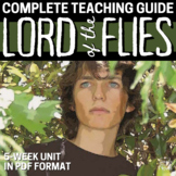 Lord of the Flies Literature Guide Lessons, Activities PAC