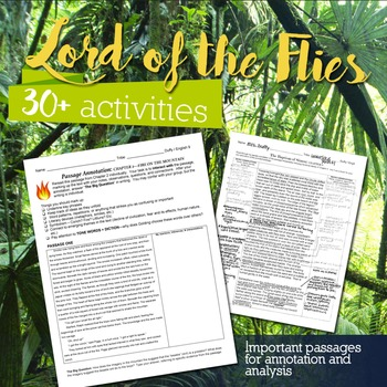Lord of the Flies Megapack: Study Guide, Assignments, and Much More!