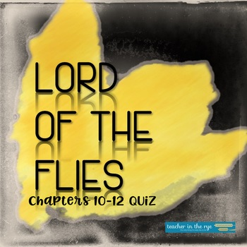 Lord Of The Flies Multiple Choice Chapter Worksheets