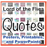 Lord of the Flies Novel Quotes Posters and Powerpoints