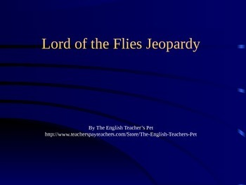 Lord of the Flies PowerPoint Game