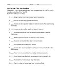Lord of the Flies Pre-Reading Activity
