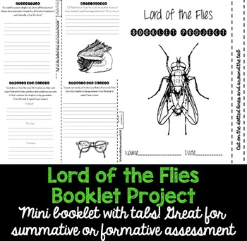 Lord of the Flies Project Booklet With Tabs!