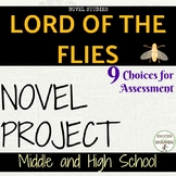Lord of the Flies Project Choice of 9 plus EDITABLE rubric