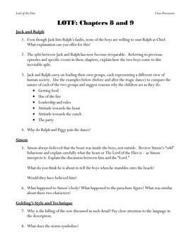 Lord of the Flies: Questions on Chapters 1-9