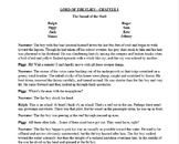 Lord of the Flies - Re-Done in a Play Format