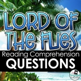 Lord of the Flies Reading Comprehension Questions for the