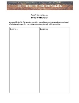 Lord of the Flies Reading Log & Guided Responses