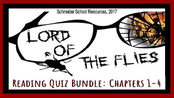 Lord of the Flies Reading Quizzes: Complete Bundle (Chapters 1-12)