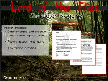 Lord of the Flies Review- Character Blogging