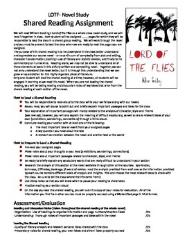 Lord of the Flies Shared Reading Assignment