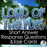 Lord of the Flies Short Response Questions and Task Cards