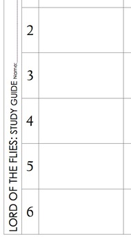 Lord of the Flies Study Guide Chart