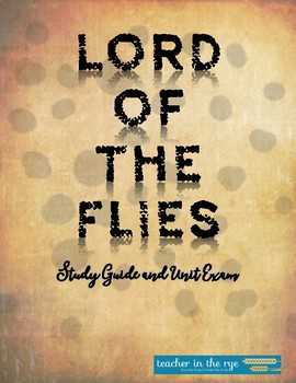 Lord of the Flies Study Guide and Exam with Key! {CCSS}
