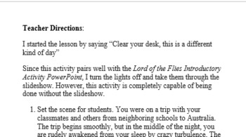 Lord of the Flies Survival Guide
