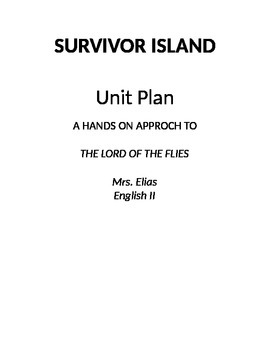 Lord of the Flies Survivor Island Unit Plan