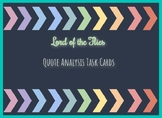 Lord of the Flies Task Cards