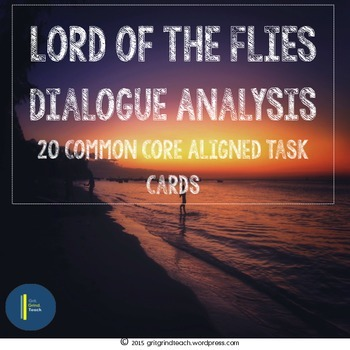 Lord of the Flies:Close Reading Task Cards