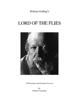 Lord of the Flies: Punctuation, Paragraphing and  Grammar Exercises