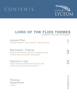 Lord of the Flies Themes Analysis