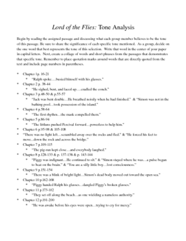 lord of the flies passage analysis Passage #2: simon's conversation with the lord of the flies (p143-144) a as with the previous passage, annotate your text using the following codes, plus the additional.
