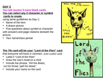 Lord of the Flies Trading Card Project