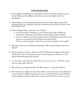 Lord of the Flies Assessments and Activities