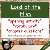 Lord of the Flies Introduction & Chapter Questions