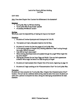 Lord of the Flies Unit Plan