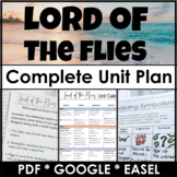 Lord of the Flies Unit Plan Bundle & Literature Guide w/ G