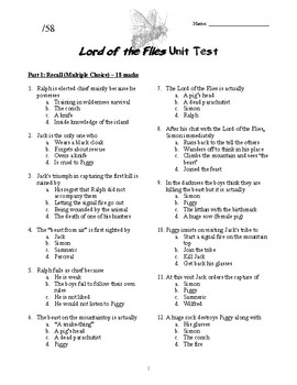 Essay questions for lord of the flies