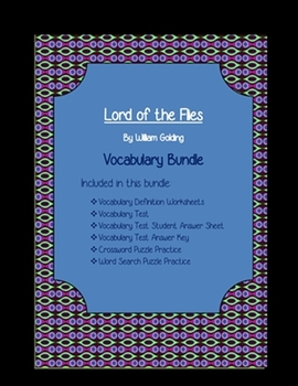 Lord of the Flies Vocabulary Bundle