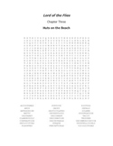 Lord of the Flies Vocabulary Word Search Chapter 3