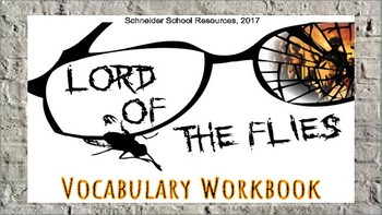 Lord of the Flies: Vocabulary Workbook Activity