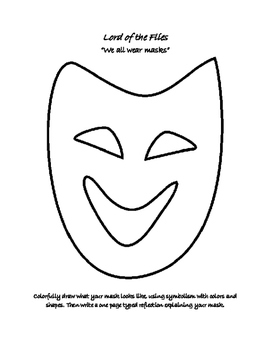 Lord of the Flies- We All Wear Masks Activity