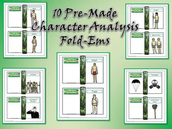 Lord of the Flies by William Golding Character & Plot Analysis Fold-Ems