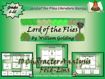 Lord of the Flies by William Golding Character & Plot Analysis Tri-Folds