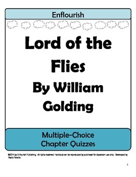 Lord of the Flies by William Golding Multiple Choice Chapt