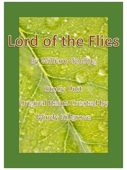 Lord of the Flies by William Golding Study Unit