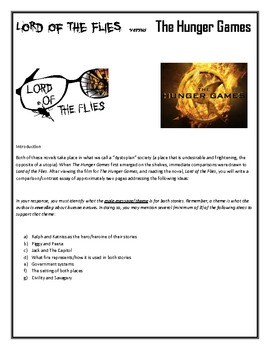 Lord of the Flies versus The Hunger Games Essay Freebie!