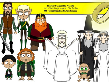 Lord of the Rings Inspired Clip Art Set