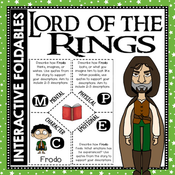 Lord of the Rings: Reading and Writing Interactive Notebook Foldable