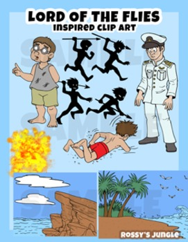 Lord Of The Flies Inspired Clip Art Set