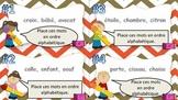 L'ordre alphabétique- cartes à tâches
