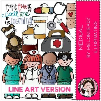 Lori's medical by Melonheadz LINE ART