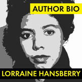 Lorraine Hansberry Author Study Worksheet, Easy Biography