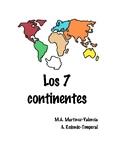 Los 7 continentes, 7 continents clipart booklet