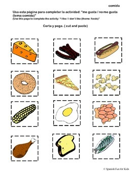 Los Alimentos Activity