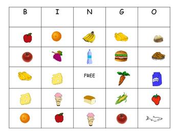 Los Alimentos BINGO- Spanish Food Vocabulary